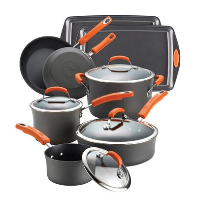 Rachael Ray Hard Anodized II 12-Piece Cookware Set at Sears.com