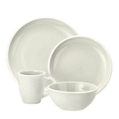 Rachael Ray Rise 16 Piece Dinnerware Set - Color: White