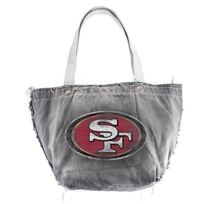 Little Earth NFL Vintage Tote Bag - NFL Team: San Francisco 49ers, Color: Black at Sears.com