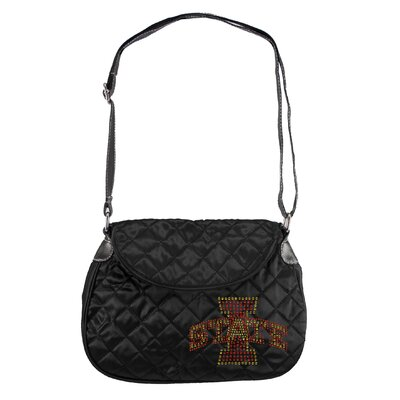Little Earth NCAA Sport Noir Quilted Shoulder Bag - NCAA Team: Iowa State Cyclones