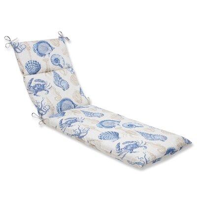 Sealife Outdoor Chaise Lounge Cushion Fabric: Marine