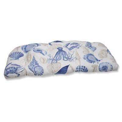 Sealife Outdoor Loveseat Cushion Fabric: Marine