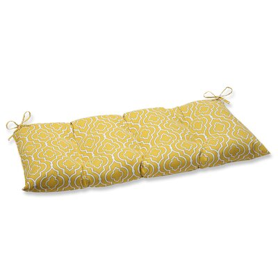 Starlet Outdoor Loveseat Cushion Fabric: Gold