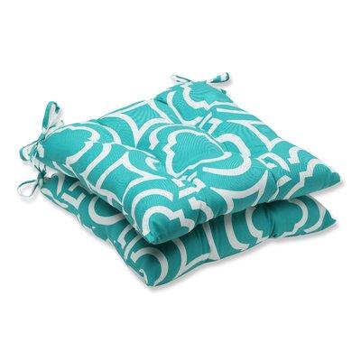 Carmody Outdoor Dining Chair Cushion Fabric: Peacock 533773