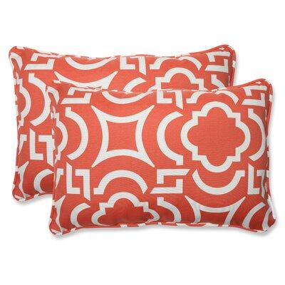 Carmody Indoor/Outdoor Lumbar Pillow Fabric: Mango, Size: 16.5 x 24.5