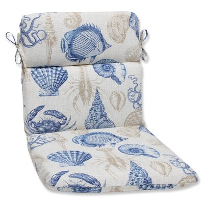 Sealife Outdoor Lounge Chair Cushion Fabric: Marine