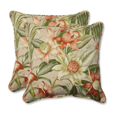 Botanical Glow Tiger Stripe Indoor/Outdoor Throw Pillow