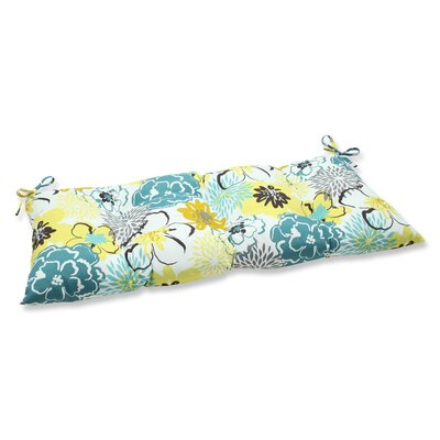 Floral Fantasy Outdoor Loveseat Cushion Fabric: Limeaide