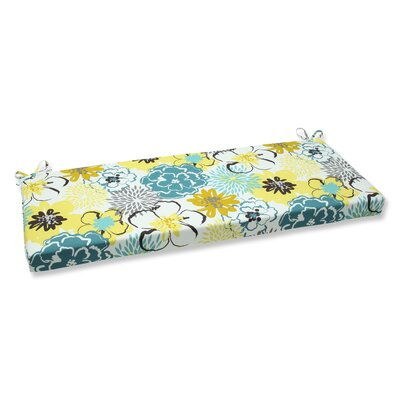 Floral Fantasy Outdoor Bench Cushion Fabric: Limeaide