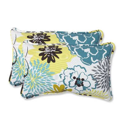Floral Fantasy Indoor/Outdoor Throw Pillow Color: Limeaide, Size: 11.5 x 18.5