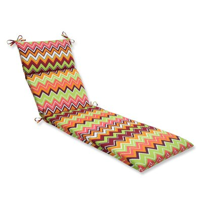 Bayridge Outdoor Chaise Lounge Cushion Fabric: Raspberry