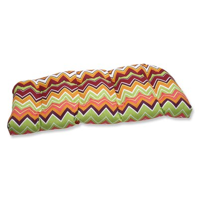 Bayridge  Chevron Outdoor Loveseat Cushion Fabric: Raspberry