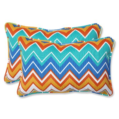 Bayridge Indoor/Outdoor Lumbar Pillow Size: 16.5 x 24.5, Fabric: Orangeaide