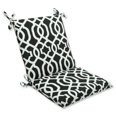 New Geo Outdoor Chair Cushion Fabric: Black / White