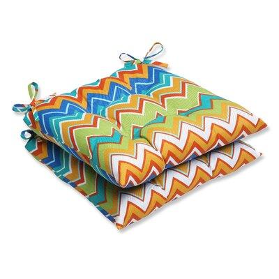 Bayridge Outdoor Dining Chair Cushion Fabric: Orangeaide