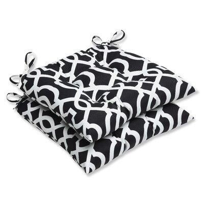 New Geo Outdoor Seat Cushion Fabric: Black / White