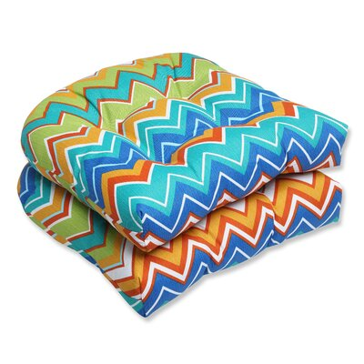 Bayridge Chevron Outdoor Seat Cushion Fabric: Orangeaide