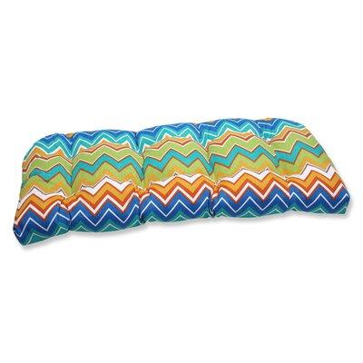 Bayridge  Chevron Outdoor Loveseat Cushion Fabric: Orangeaide
