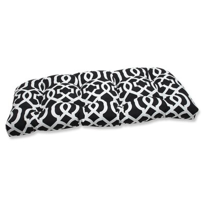 New Geo Outdoor Loveseat Cushion Fabric: Black / White