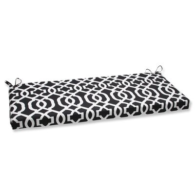 New Geo Outdoor Bench Cushion Fabric: Black / White