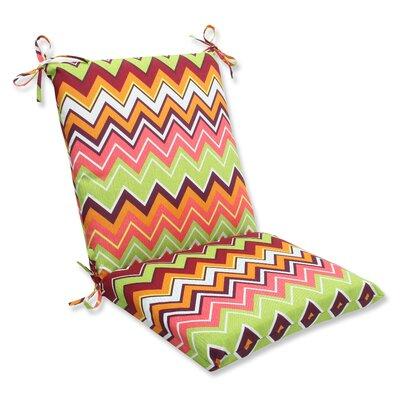 Zig Zag Outdoor Chair Cushion Fabric: Raspberry