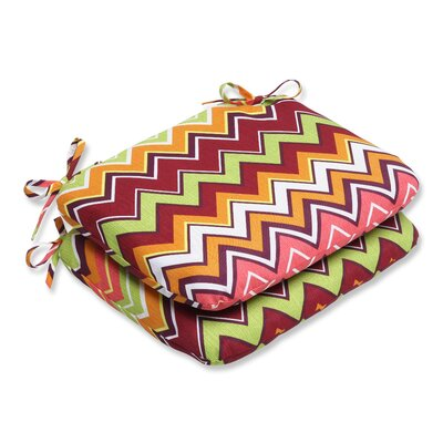 Bayridge Outdoor Seat Cushion Fabric: Raspberry