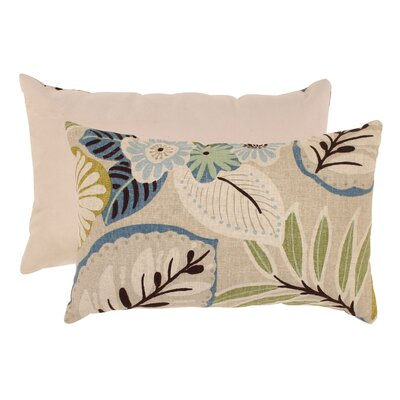 Tropical Cotton Lumbar Pillow Color: Beige