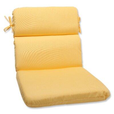 Canvas Outdoor Sunbrella Lounge Chair Cushion Fabric: Buttercup
