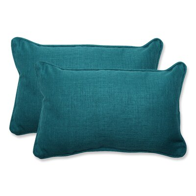 Rave Indoor/Outdoor Lumbar Pillow Size: 11.5 H x 18.5 W x 5 D, Fabric: Teal