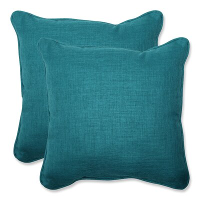 Rave Indoor/Outdoor Throw Pillow Fabric: Teal