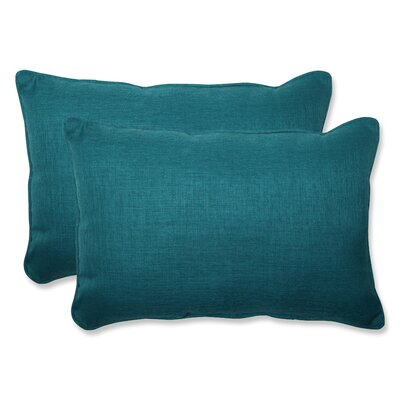 Rave Indoor/Outdoor Lumbar Pillow Size: 16.5 W x 24.5 W x 5 D, Fabric: Teal