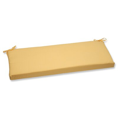 Canvas Outdoor Sunbrella Bench Cushion Fabric: Buttercup