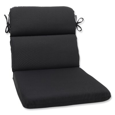 Canvas Outdoor Sunbrella Lounge Chair Cushion Fabric: Black