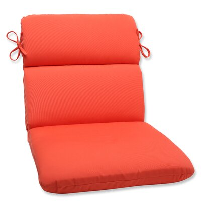Canvas Outdoor Sunbrella Lounge Chair Cushion Fabric: Melon