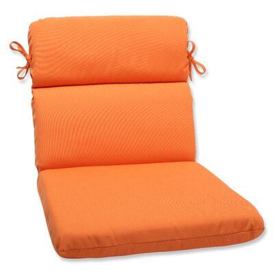 Canvas Outdoor Sunbrella Lounge Chair Cushion Fabric: Tangerine
