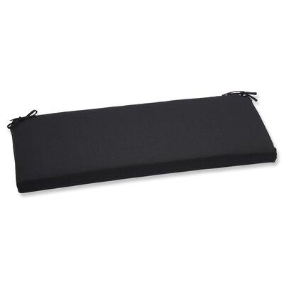 Canvas Outdoor Sunbrella Bench Cushion Fabric: Black