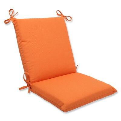 Pillow Perfect Canvas Corners Chair Cushion - Fabric: Tangerine