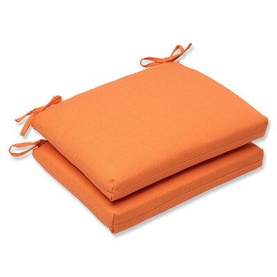 Canvas Outdoor Sunbrella Dining Chair Cushion Fabric: Tangerine