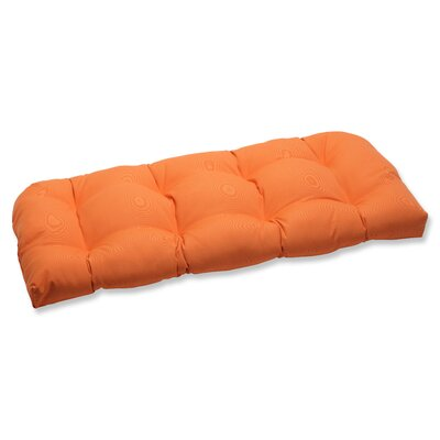 Canvas Outdoor Loveseat Cushion Fabric: Tangerine