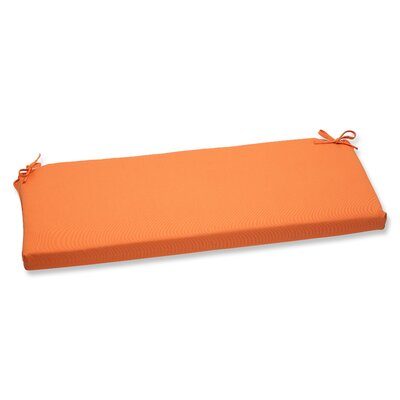 Canvas Outdoor Sunbrella Bench Cushion Fabric: Tangerine