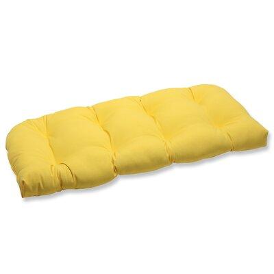 Fresco Outdoor Loveseat Cushion Fabric: Yellow