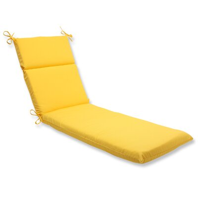 Fresco Outdoor Chaise Lounge Cushion Fabric: Yellow