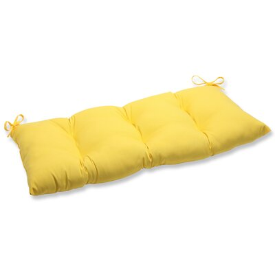 Fresco Outdoor Loveseat Cushion Fabric: Yellow