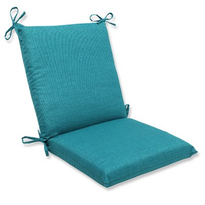 Pillow Perfect Rave Corners Chair Cushion - Fabric: Teal