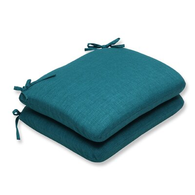 Rave Outdoor Dining Chair Cushion Fabric: Teal