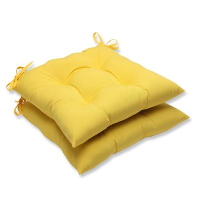 Fresco Outdoor Dining Chair Cushion Fabric: Yellow
