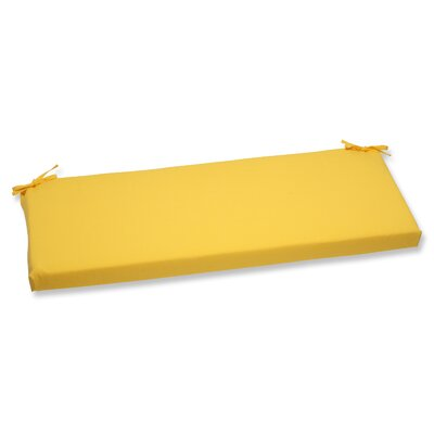 Fresco Outdoor Bench Cushion Fabric: Yellow