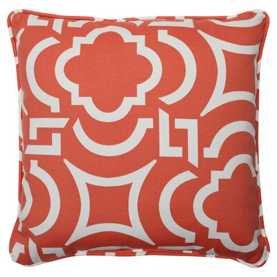 Carmody Indoor/Outdoor Throw Pillow Fabric: Mango