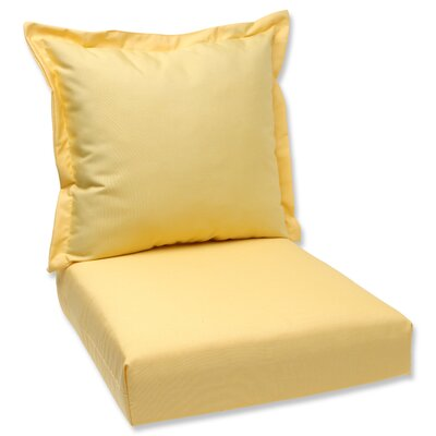 Outdoor Lounge Chair Cushions Fabric: Yellow