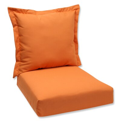 Outdoor Lounge Chair Cushions Fabric: Orange